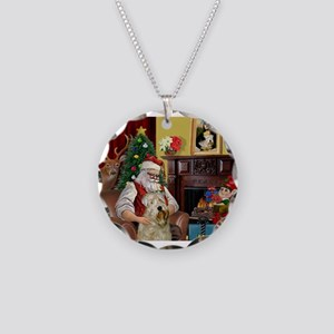 Santa's Wheaten (#7) Necklace Circle Charm