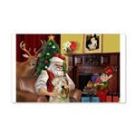 Santa's Wheaten (#7) 22x14 Wall Peel