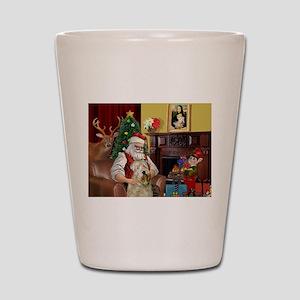 Santa's Wheaten (#7) Shot Glass