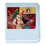 Santa's Wheaten (#7) baby blanket