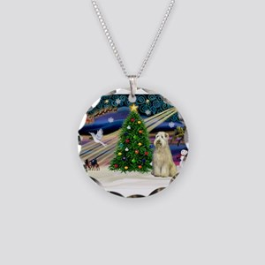 XmasMagic/Wheaten (#10) Necklace Circle Charm