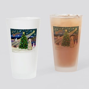 XmasMagic/Wheaten (#10) Drinking Glass