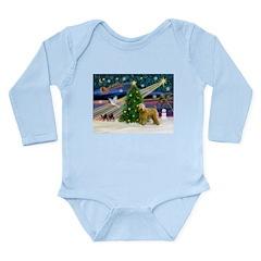 XmasMagic/Wheaten (#2) Long Sleeve Infant Bodysuit