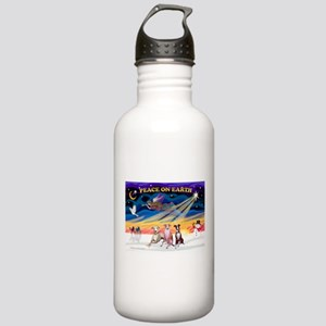 XmasSunrise/3 Whippets Stainless Water Bottle 1.0L