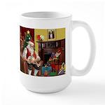 Santa's Whippet Large Mug