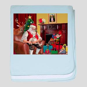 Santa's Whippet baby blanket