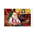 Santa & his 2 Whippets 22x14 Wall Peel