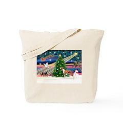 Xmas Magic & Whippet Tote Bag