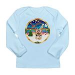XmasMusic 3/Yorkie #17 Long Sleeve Infant T-Shirt
