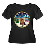 XmasMusic3/Yorkie #7 Women's Plus Size Scoop Neck