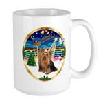 XmasMusic3/Yorkie #7 Large Mug