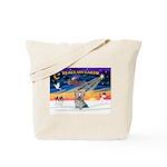 XmasSunrise/Yorkie #13 Tote Bag