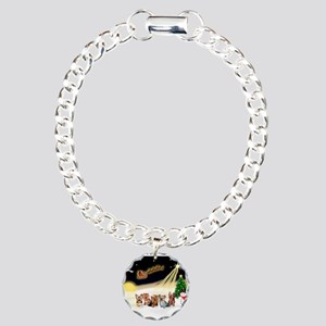 Night Flight/5 Yorkies Charm Bracelet, One Charm