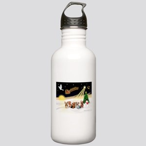 Night Flight/5 Yorkies Stainless Water Bottle 1.0L