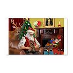 Santa's Yorkie (#11) 22x14 Wall Peel