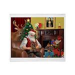 Santa's Yorkie (#11) Throw Blanket