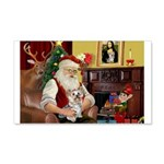 Santa's Yorkie (#13) 22x14 Wall Peel