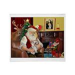Santa's Yorkie (#13) Throw Blanket