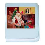 Santa's Yorkie (#13) baby blanket