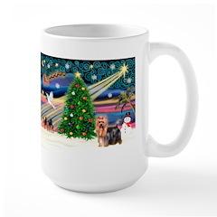 Xmas Magic & Yorkie Large Mug