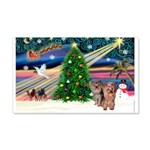 Xmas Magic & Yorkie 22x14 Wall Peel
