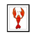 Crawfish Fleur De Lis Shape Framed Panel Print