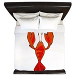 Crawfish Fleur De Lis Shape King Duvet