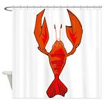 Crawfish Fleur De Lis Shape Shower Curtain