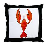 Crawfish Fleur De Lis Shape Throw Pillow