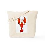 Crawfish Fleur De Lis Shape Tote Bag