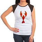 Crawfish Fleur De Lis Shape Women's Cap Sleeve T-S