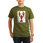 Crawfish Fleur De Lis Shape Organic Men's T-Shirt