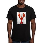 Crawfish Fleur De Lis Shape Men's Fitted T-Shirt (