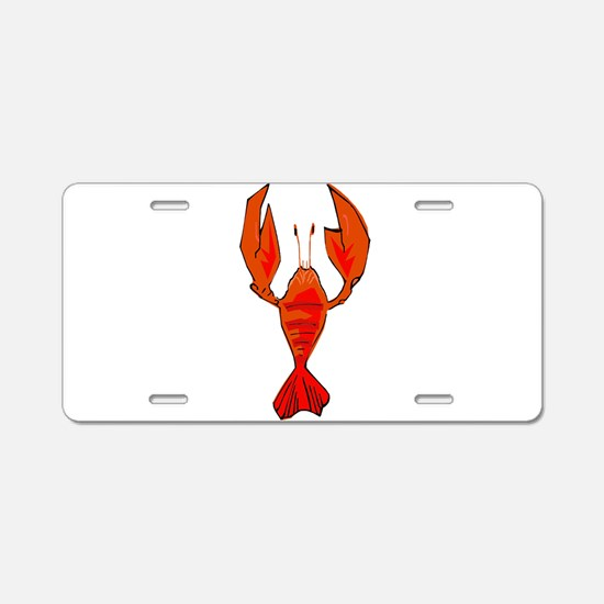 Crawfish Fleur De Lis Shape Aluminum License Plate