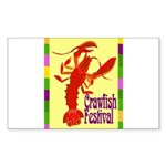 Crawfish Fest Sticker (Rectangle 10 pk)