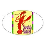 Crawfish Fest Sticker (Oval 10 pk)