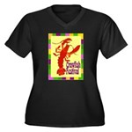 Crawfish Fest Women's Plus Size V-Neck Dark T-Shir