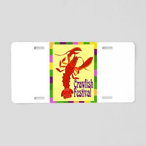 Crawfish Fest Aluminum License Plate