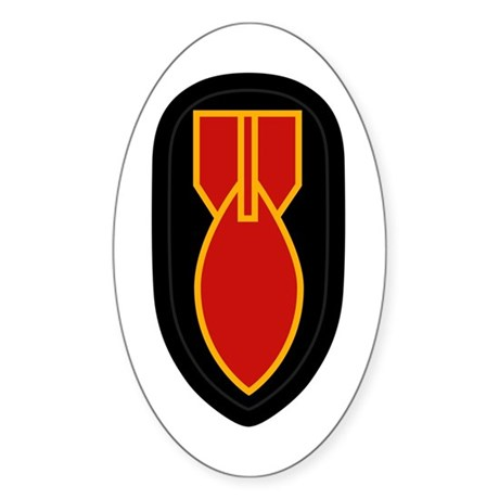 WWII Bomb Disposal Sticker (Oval)