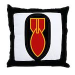 WWII Bomb Disposal Throw Pillow