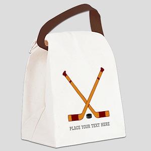 Ice Hockey Customized Canvas Lunch Bag