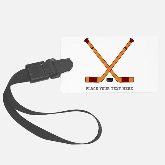 Ice Hockey Customized Luggage Tag