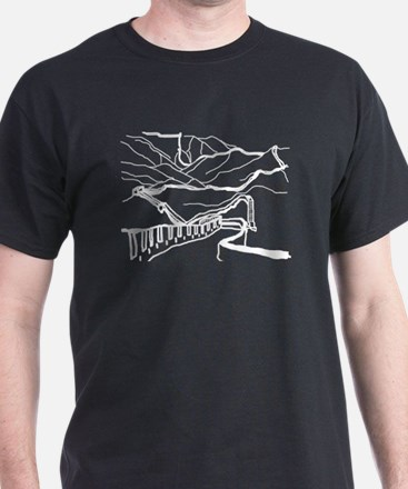 Great Wall White on Black T-Shirt