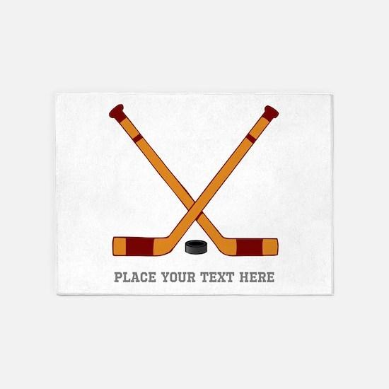 Ice Hockey Customized 5'x7'Area Rug