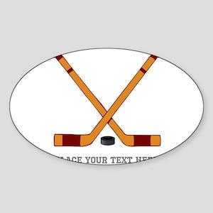 Ice Hockey Customized Sticker (Oval)