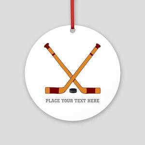 Ice Hockey Customized Round Ornament