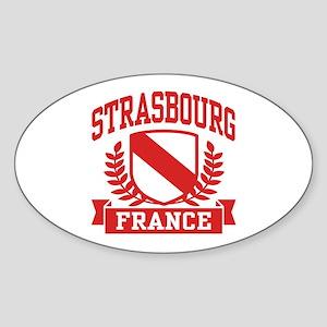 Strasbourg France Sticker (Oval)