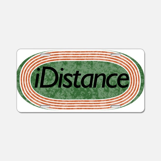i distance track and field Aluminum License Plate