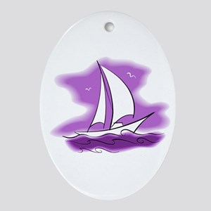 Sailboat Ornament (Oval)