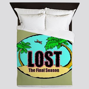 LOST Final Season Logo Queen Duvet